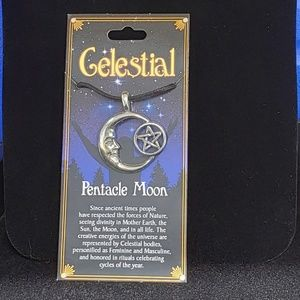 Jewelry - Pentacle Moon Celestial Amulet NWT